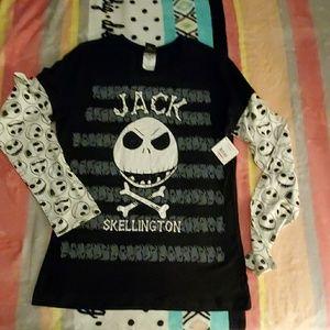 Jack Skellington T shirt Disney long sleeve